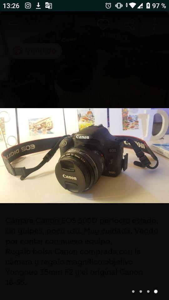 Canon EOS 500D + CanonEFS 18-55