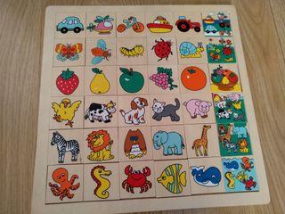 puzzle madera familias