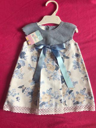Vestido bebé piqué NUEVO CON ETIQUETA