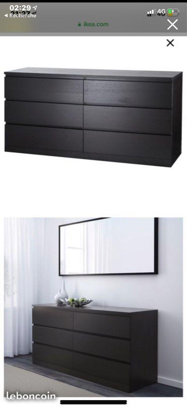Commode noir IKEA mat