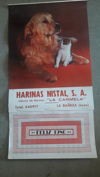 CALENDARIO PARED 1986 COMPLETO