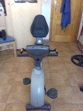 bicicleta estática respaldo