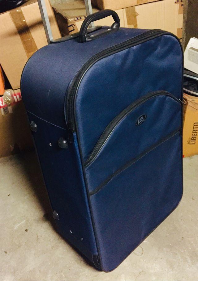 Valise bleu grande