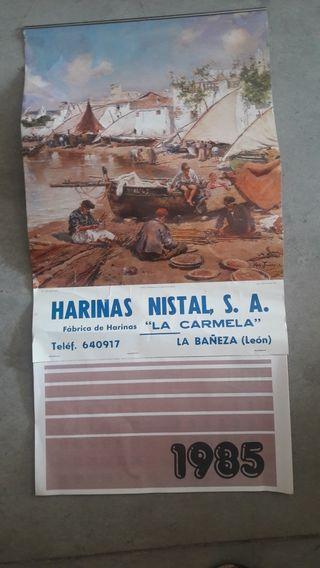 CALENDARIO DE PARED COMPLETO AÑO 1985