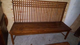 banco de madera teca de Bali