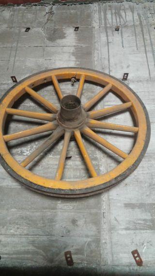 rueda de madera de coche de caballos