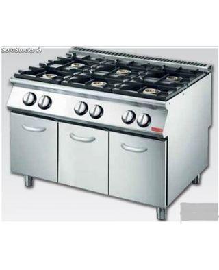 Cocina gas 6 quemadores