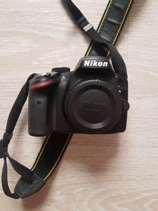 Cámara Reflex Nikon D3200 + COMPLEMENTOS