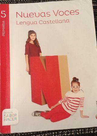 Libro Lengua Castellana Nuevas Voces 5° curso