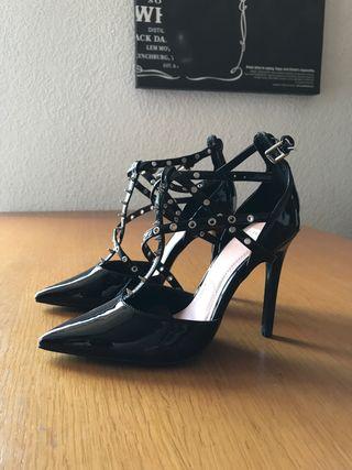 mano € Zapato Negro 10 Zara por Tachuelas segunda en de nmwv8N0O