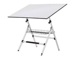 mesa dibujo blanca de 1,20x80