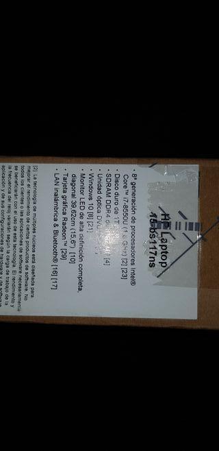 Portátil HP i7-8550-U