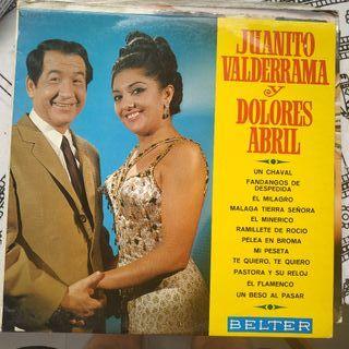 Disco vinilo Juanito Valderrama y Dolores Abril