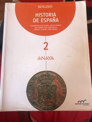 Historia de España 2°BTO