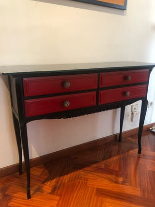 Mesa madera restaurada de diseño