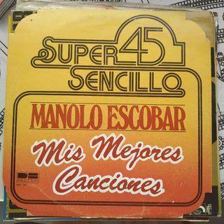"""Disco vinilo de Manolo Escobar """"Mis mejores..."""