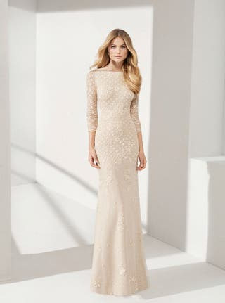 Vestido Rosa Clará T42 perfecto boda civil