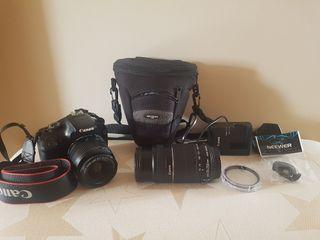 Canon EOS 1100d + 2 objetivos
