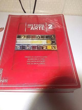 Libro de Historia del Arte de 2 de Bachillerato.