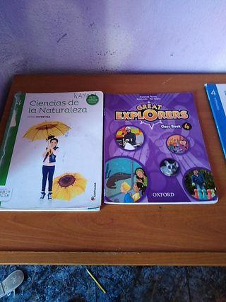 vendo 5 libros de cuarto de primaria