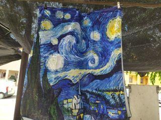 pañuelo de seda van gogh noche estrellada