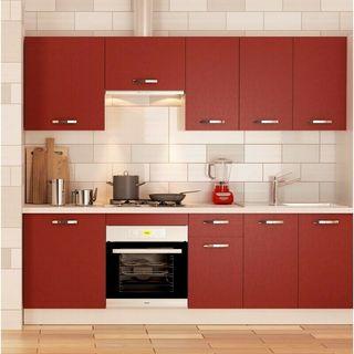 Cocina completa 240 cm color burdeos KIT-KIT