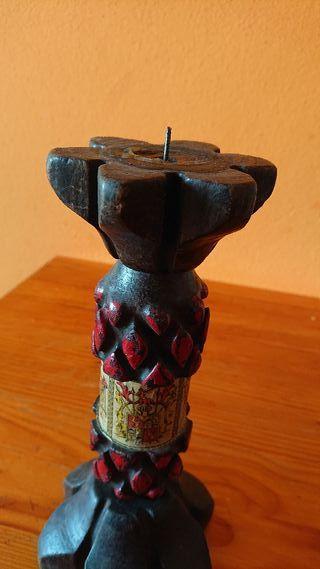 candelabro artesanal vintage