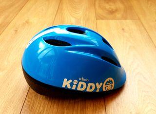 Casco bicicleta niñ@. color azul. Talla 52-56. Aju