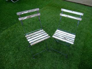 sillas Madera y hierro