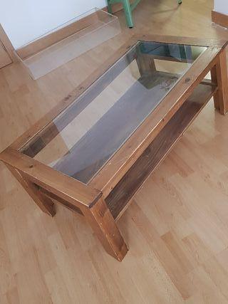 mesa rústica elevable