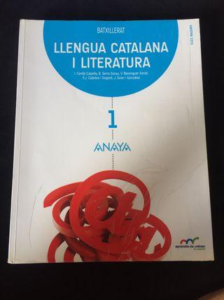 Libro de catalán primero de bachillerato
