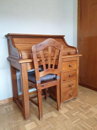 Precioso escritorio secreter con silla y 4 baldas
