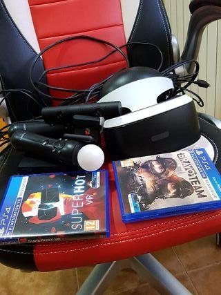 Play station vr + 2 juegos vr + mandos vr +camara