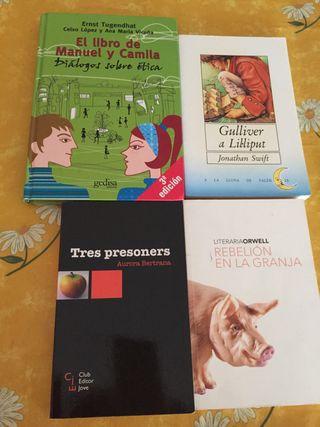 Libros de lectura . 5€ cada uno.