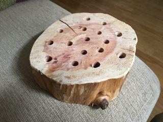 Lapicero tronco de madera