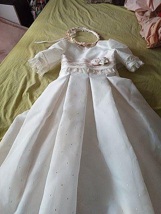 vestido de comunion rosa clara