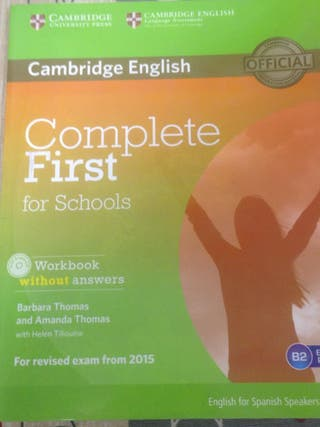 Libro Inglés Complete First Workbook 4 ESO