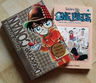 Comics manga. Detective Conan y One Piece