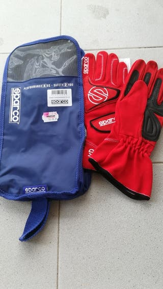 Guantes SPARCO TYPHOON ROSO
