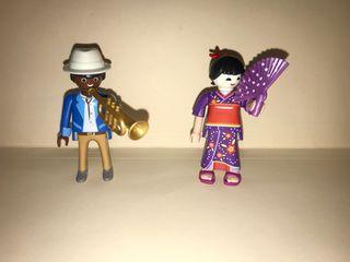 Playmobil geisha trompetista jazz