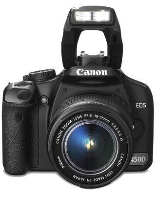 CÁMARA Canon EOS 450D + Objetivo Canon 18-55