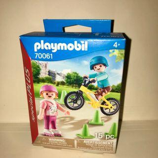 Playmobil niños patines bici nuevo