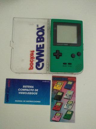 Game Boy Pocket Verde con Caja