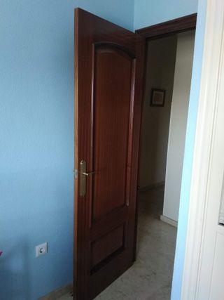 Puertas de paso en madera de Sapeli molduradas