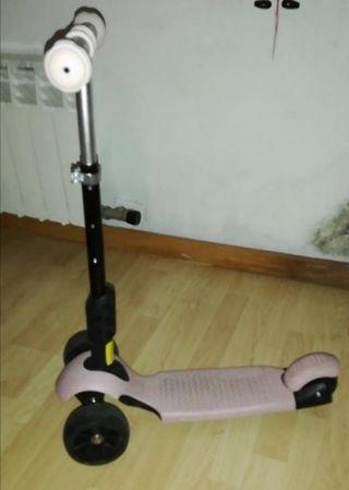 Patinete de 3 ruedas con luz