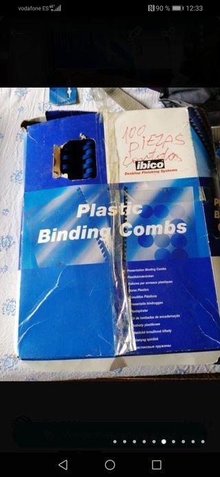 canutillos plástico encuadernar ibico