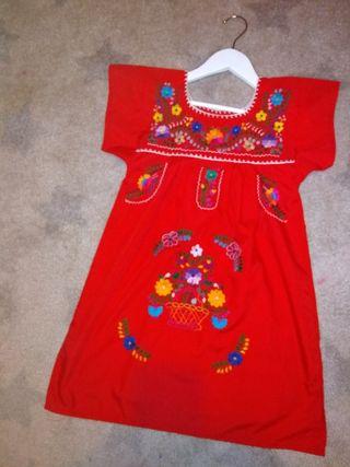 Vestido Niña Estilo Mexicano De Segunda Mano Por 15 En