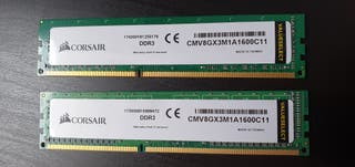 Corsair Memoria RAM DDR3 1600 16 GB