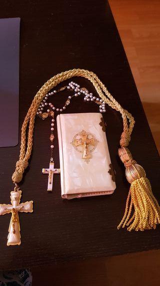 misal comunión nácar cordón y rosario