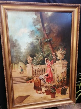 cuadro óleo pintor sevillano Luis rizo